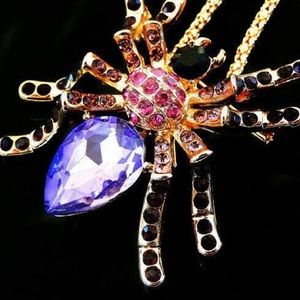 Jewelry - Spider 🕷 Pendant-Brooch Purple Crystal
